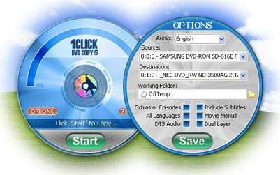 1Click DVD Copy Screenshot