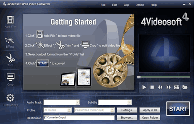 4Videosoft iPad Video Converter Screenshot