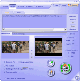 Cucusoft AVI to DVD Converter Screenshot