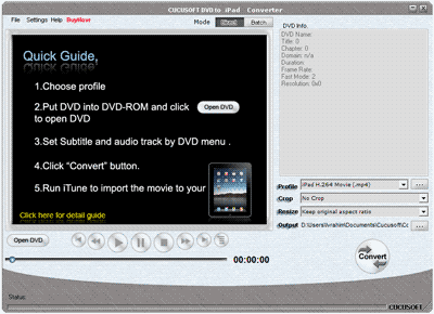 Cucusoft DVD to iPad Converter Screenshot