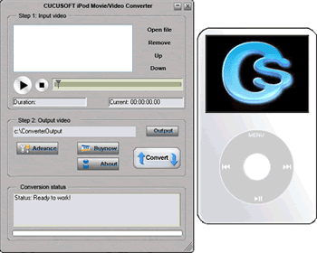 Cucusoft iPod Video Converter Screenshot