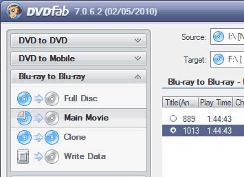 DVDFab Blu-ray Copy Screenshots