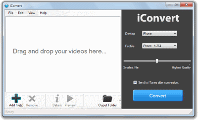 iConvert iPad Video Converter Screenshot