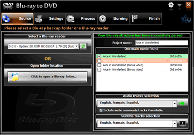 VSO Blu-ray to DVD Converter Screenshot
